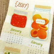 2017 Canning Tea Towel Calendar Folded