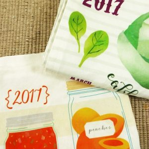 2017 Tea Towel Calendar Set