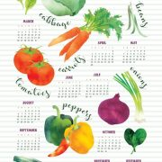 2017 Veggie Tea Towel Calendar