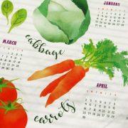 Veggie Calendar Closeup