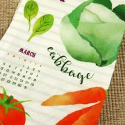 2017 Veggie Tea Towel Calendar Folded