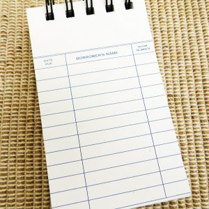 Library Card Notepad