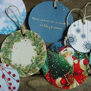 Make Christmas Card Gift Tags