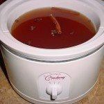Apple Cider in Crockpot