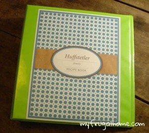 Printable Family Cookbook