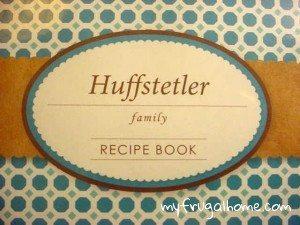 Family Recipe Book Cover