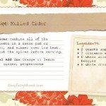 Mulled Cider Recipe Card