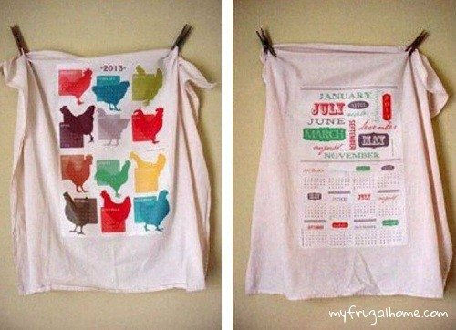 Printable Tea Towel Calendars - 2013