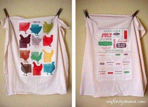 Printable Tea Towel Calendars - 2013