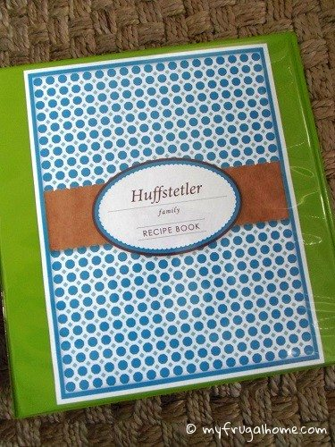 Printable Family Recipe Book