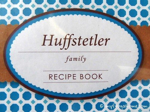 Recipe Book Closeup
