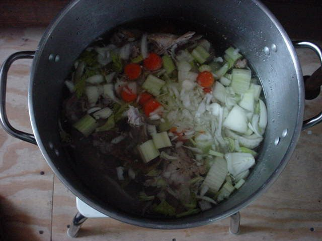 Add the Veggies to the Pot