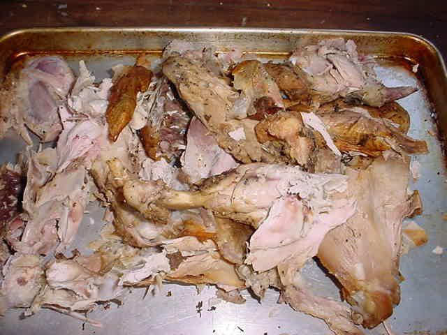 Turkey Carcass - Broken Up