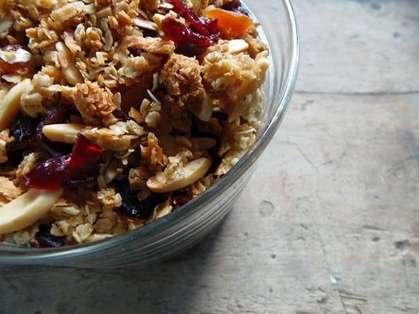 Closeup of Homemade Granola