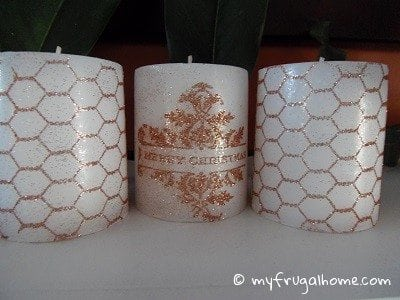 How to Make Stamped Candles