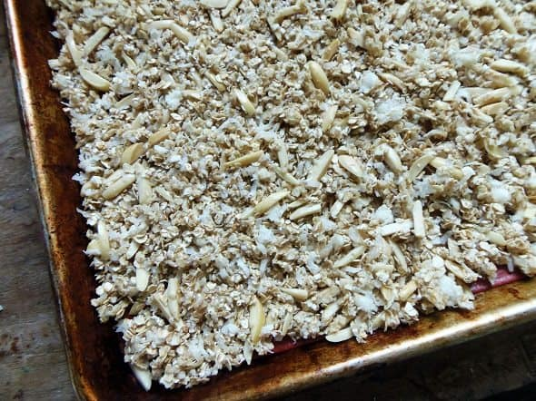 Place Granola in Oven