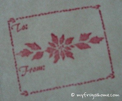 Rubber Stamp Gift Tags