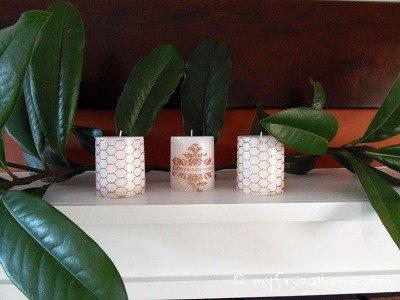 Stamped Candle Mantle Scape