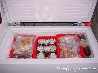Chest Freezer -Organized