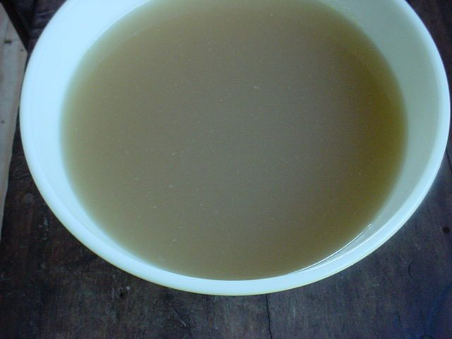 Chicken Broth with Fat Removed