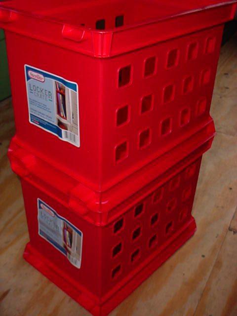 Sterilite Locker Crates