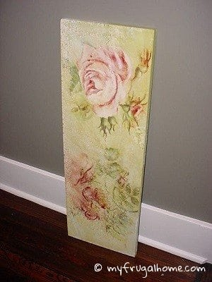 Curb Find: Rose Painting