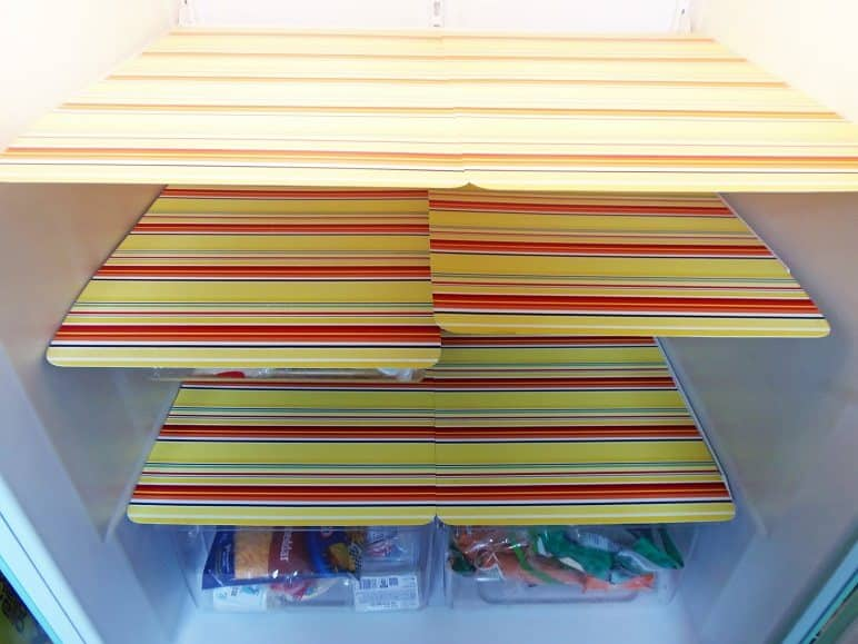 hometalk fridge with shelf shelving vinyl tips cleaning diy drawers ideas liners refrigerator liner reusable