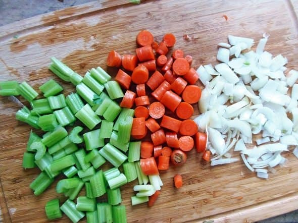 Veggies for Chicken Broth