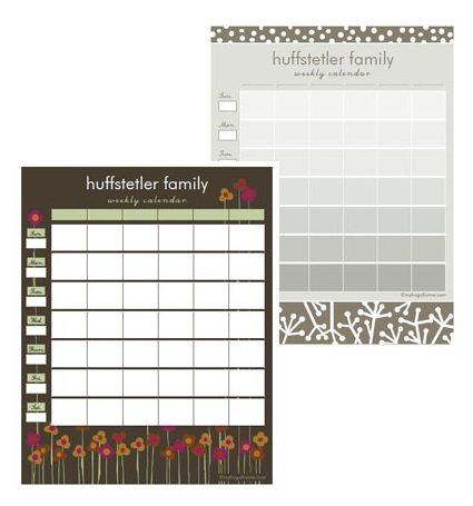 Printable Family Calendars
