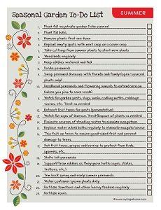 Summer Garden To Do List