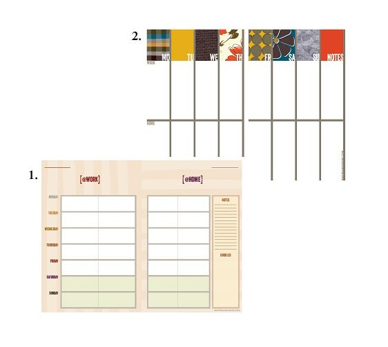 Printable Work/Home Planners