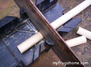 Cut the Wooden Dowels
