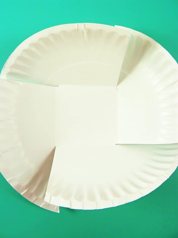 Paper Plate Easter Basket: Step 2