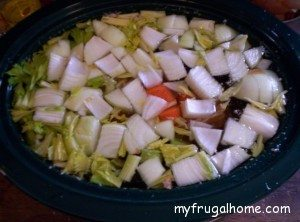 Add the Vegetables to the Crockpot