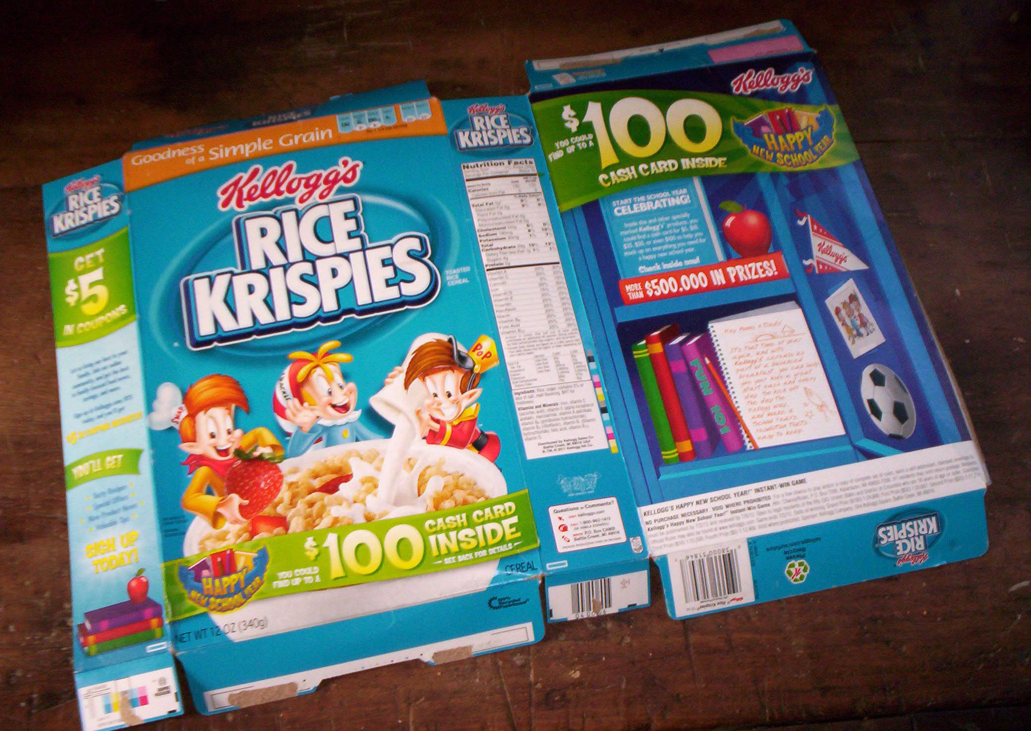 Cereal Box Deconstructed