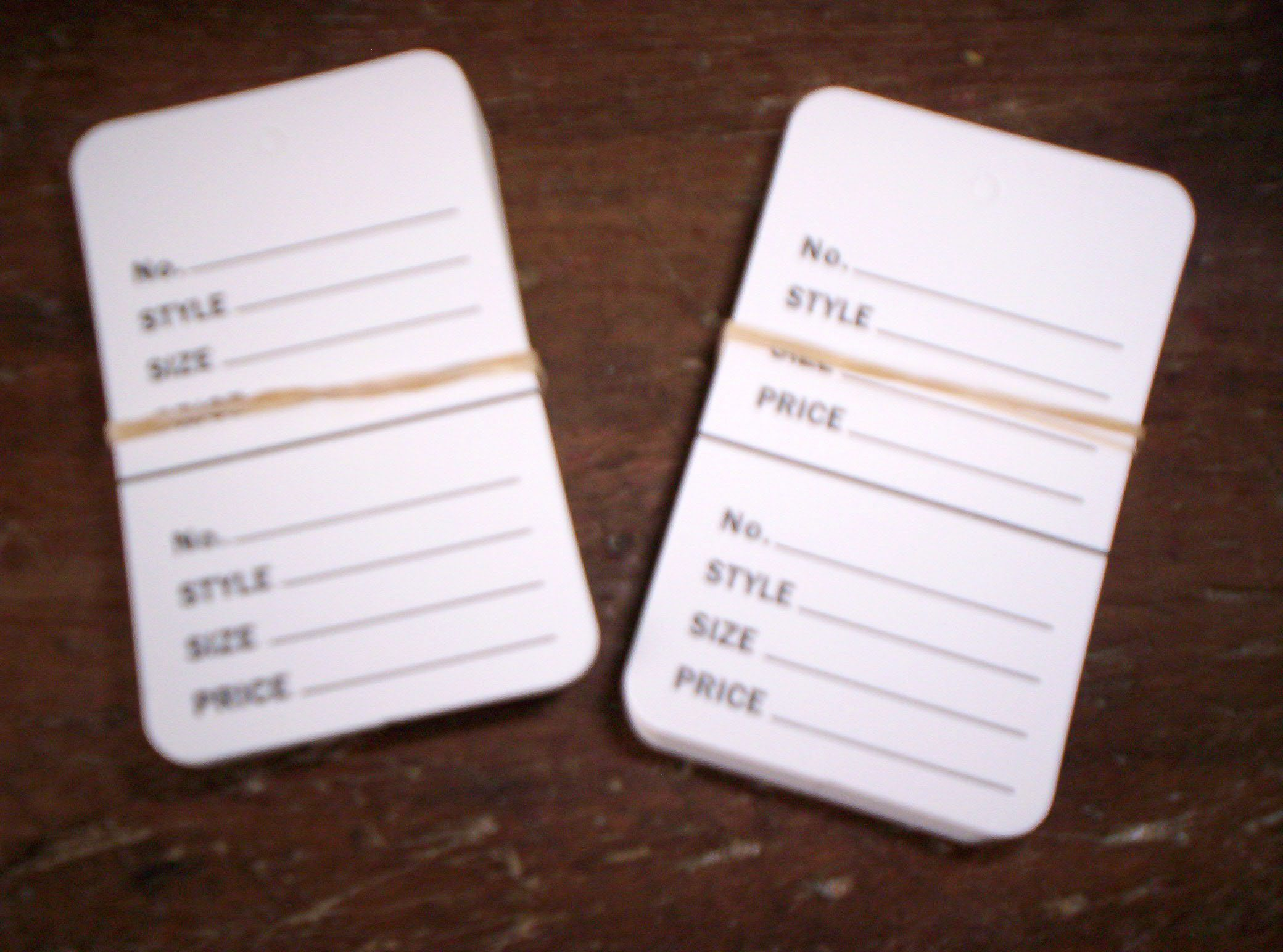 Consignment Sale Tags