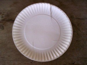 Paper Plate Easter Basket: Step 1