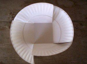 Paper Plate Easter Basket: Step 2