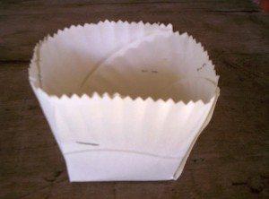Paper Plate Easter Basket: Step 5