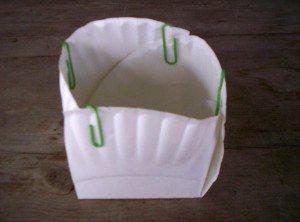 Paper Plate Easter Basket: Step 3