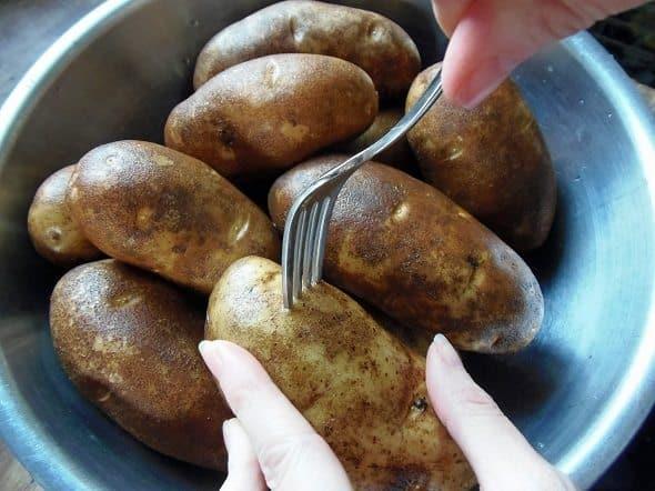 Poke Potatoes with a Fork
