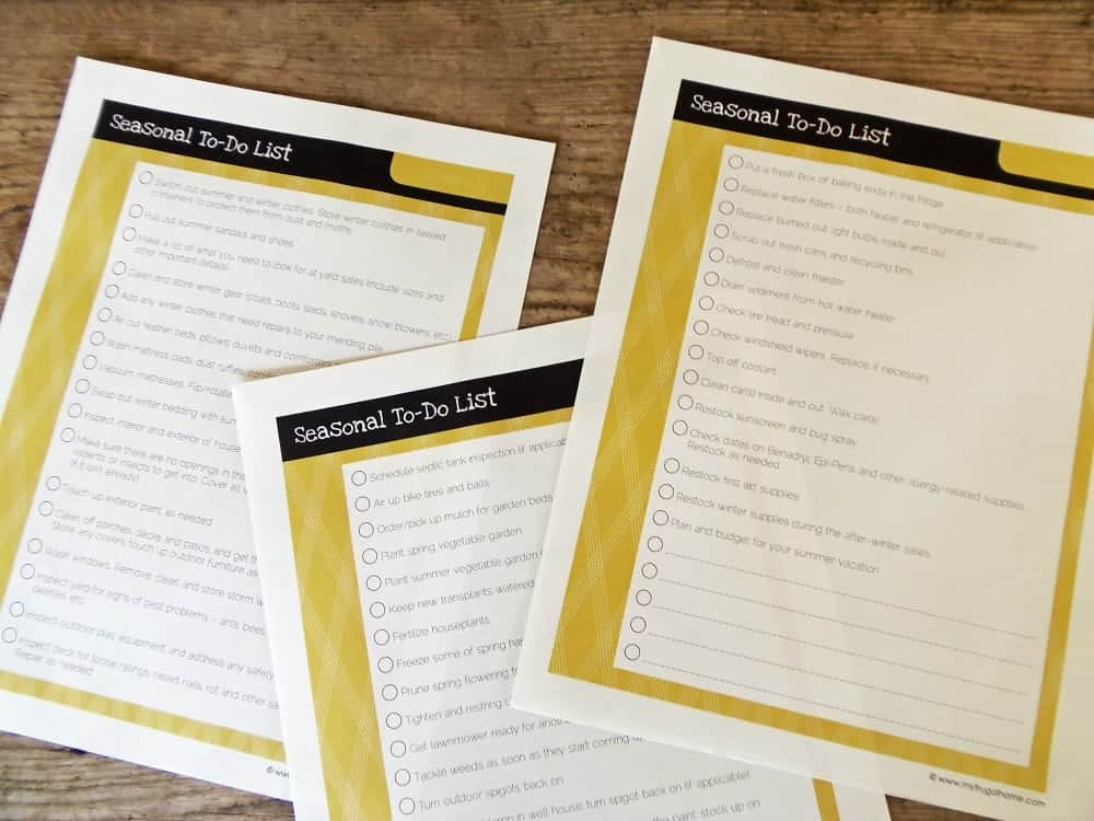 Printable Spring To-Do List