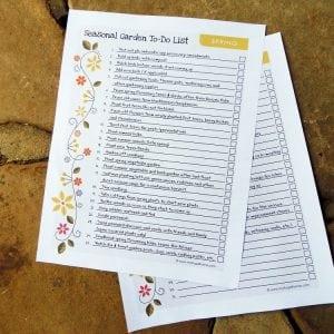 Spring Garden To-Do List