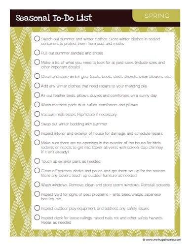 Printable Spring To Do List