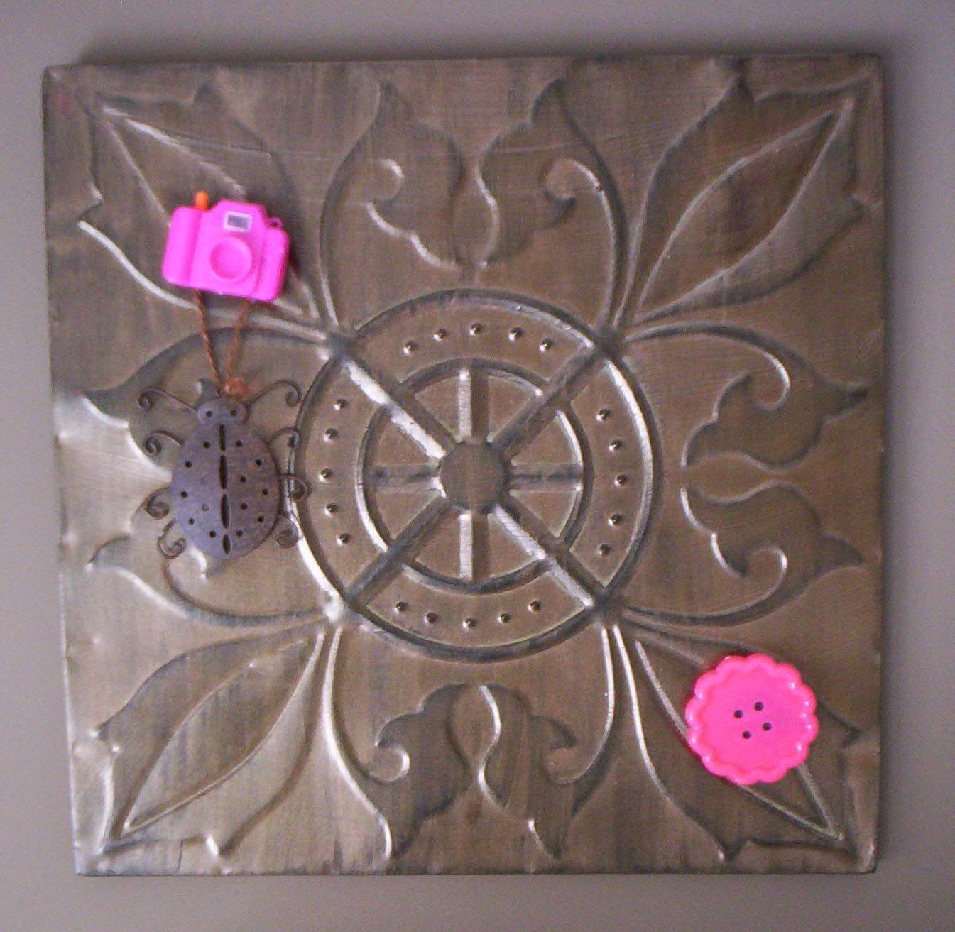 Tin Wall Art Closeup