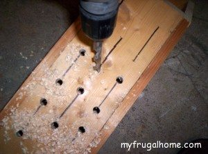 Drill a Hole at the Top and Bottom of Each Slot