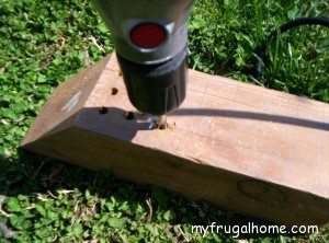 Drill the Nesting Holes