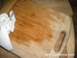 Apply Mineral Oil to the Cutting Board