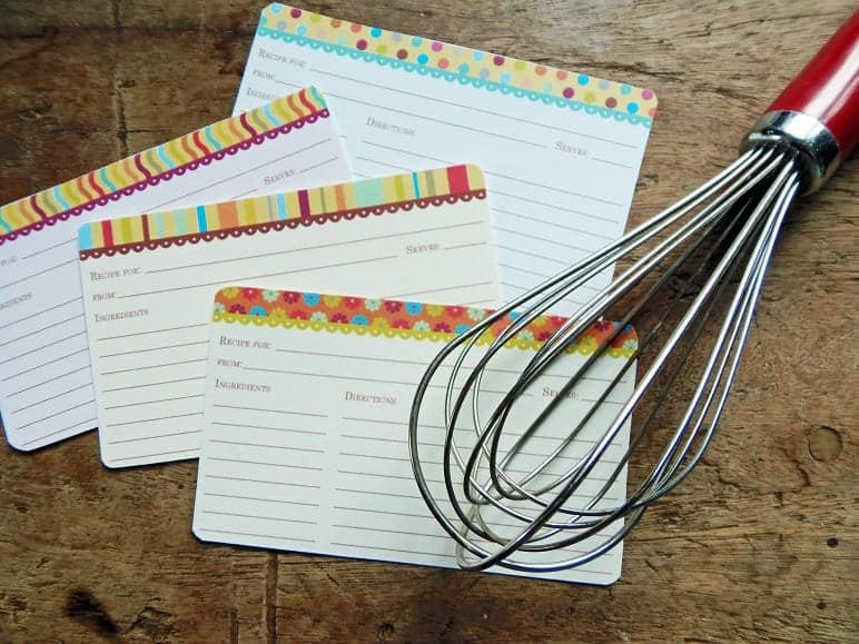 Brights Recipe Card Set