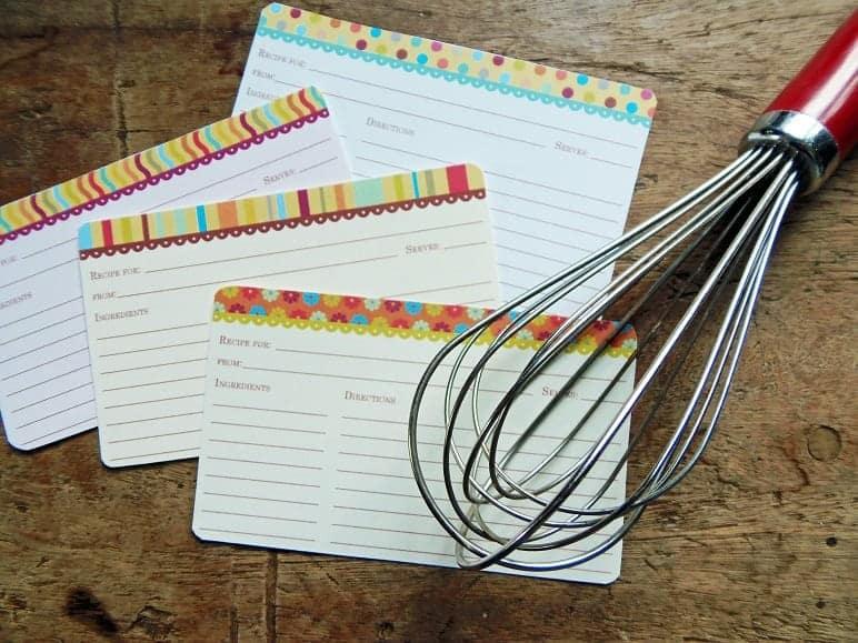 Brights Recipe Card Set